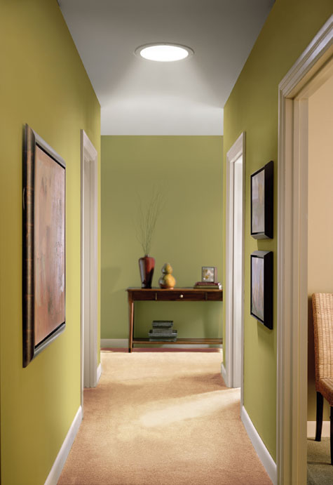 tubular skylight hallway