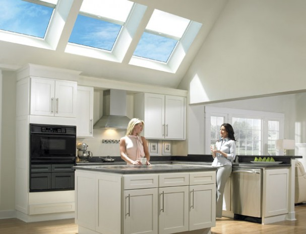 kitchen skylights with remote control shades