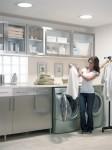 laundry with skylight