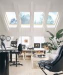 skylighted office